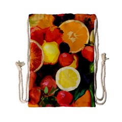 Fruits Pattern Drawstring Bag (small) by Valentinaart