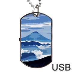 Landscape Dog Tag Usb Flash (two Sides)