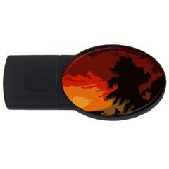 Landscape Usb Flash Drive Oval (2 Gb)