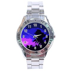 Landscape Stainless Steel Analogue Watch