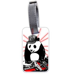 Deejay Panda Luggage Tags (one Side)  by Valentinaart