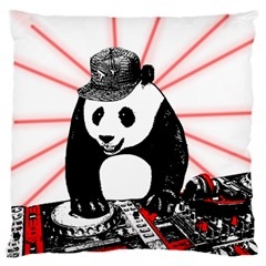 Deejay Panda Standard Flano Cushion Case (one Side) by Valentinaart