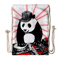Deejay Panda Drawstring Bag (large)