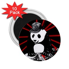 Deejay Panda 2 25  Magnets (10 Pack)  by Valentinaart