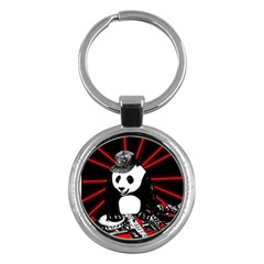 Deejay Panda Key Chains (round)  by Valentinaart