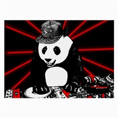 Deejay Panda Large Glasses Cloth (2-side) by Valentinaart