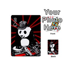 Deejay Panda Playing Cards 54 (mini)  by Valentinaart