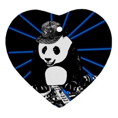 Deejay Panda Ornament (heart) by Valentinaart