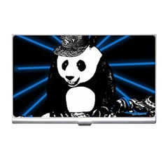Deejay Panda Business Card Holders by Valentinaart