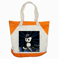 Deejay Panda Accent Tote Bag by Valentinaart