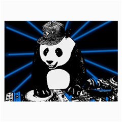 Deejay Panda Large Glasses Cloth by Valentinaart