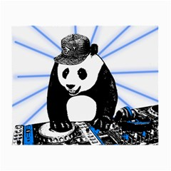 Deejay Panda Small Glasses Cloth (2-side) by Valentinaart