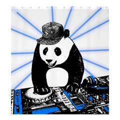 Deejay Panda Shower Curtain 66  X 72  (large)  by Valentinaart