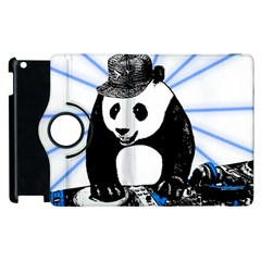 Deejay Panda Apple Ipad 2 Flip 360 Case by Valentinaart
