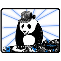 Deejay Panda Double Sided Fleece Blanket (large)