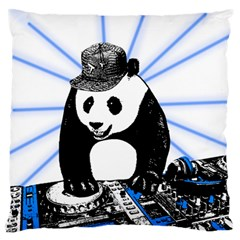 Deejay Panda Large Flano Cushion Case (two Sides) by Valentinaart