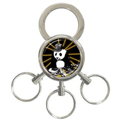 Deejay Panda 3 Ring Key Chains by Valentinaart
