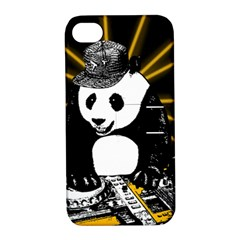 Deejay Panda Apple Iphone 4/4s Hardshell Case With Stand by Valentinaart
