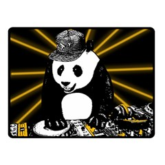 Deejay Panda Double Sided Fleece Blanket (small)  by Valentinaart