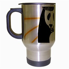 Deejay Panda Travel Mug (silver Gray) by Valentinaart
