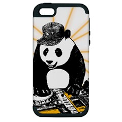 Deejay Panda Apple Iphone 5 Hardshell Case (pc+silicone)