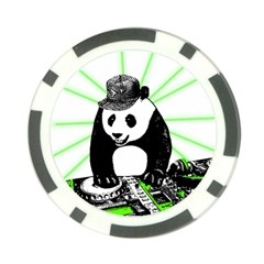 Deejay Panda Poker Chip Card Guard (10 Pack) by Valentinaart