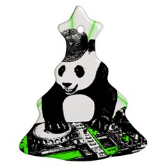 Deejay Panda Ornament (christmas Tree)