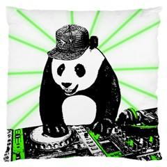 Deejay Panda Large Cushion Case (one Side) by Valentinaart