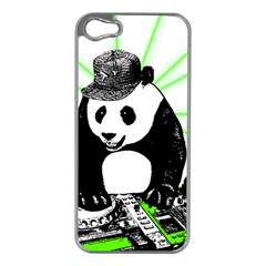 Deejay Panda Apple Iphone 5 Case (silver) by Valentinaart