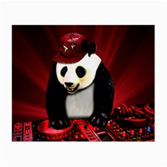 Deejay Panda Small Glasses Cloth (2 Side) by Valentinaart