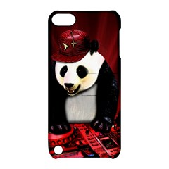 Deejay Panda Apple Ipod Touch 5 Hardshell Case With Stand by Valentinaart