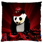 Deejay panda Large Flano Cushion Case (One Side) Front
