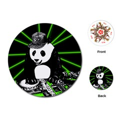 Deejay Panda Playing Cards (round)  by Valentinaart