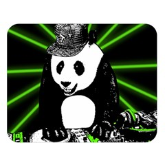 Deejay Panda Double Sided Flano Blanket (large)  by Valentinaart