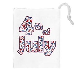 4th Of July Independence Day Drawstring Pouches (xxl) by Valentinaart