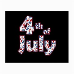 4th Of July Independence Day Small Glasses Cloth (2 Side) by Valentinaart