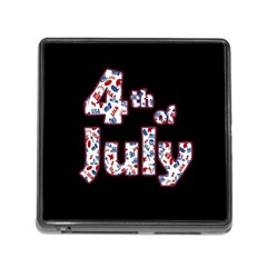 4th Of July Independence Day Memory Card Reader (square) by Valentinaart