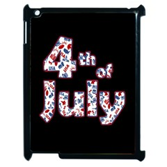 4th Of July Independence Day Apple Ipad 2 Case (black) by Valentinaart