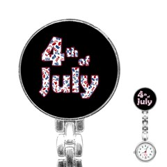 4th Of July Independence Day Stainless Steel Nurses Watch by Valentinaart