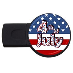4th Of July Independence Day Usb Flash Drive Round (2 Gb) by Valentinaart