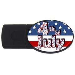 4th Of July Independence Day Usb Flash Drive Oval (4 Gb) by Valentinaart