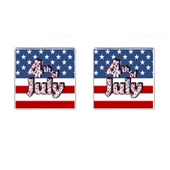 4th Of July Independence Day Cufflinks (square)