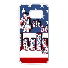 4th Of July Independence Day Samsung Galaxy S7 White Seamless Case