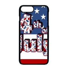 4th Of July Independence Day Apple Iphone 7 Plus Seamless Case (black) by Valentinaart