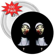 Horror Nuns 3  Buttons (100 Pack)  by Valentinaart