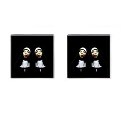 Horror Nuns Cufflinks (square) by Valentinaart