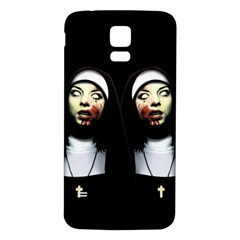 Horror Nuns Samsung Galaxy S5 Back Case (white) by Valentinaart