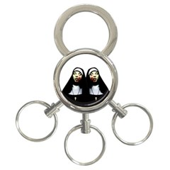 Horror Nuns 3 Ring Key Chains by Valentinaart