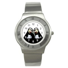 Horror Nuns Stainless Steel Watch by Valentinaart