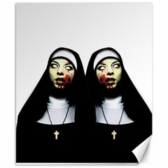 Horror Nuns Canvas 8  X 10  by Valentinaart